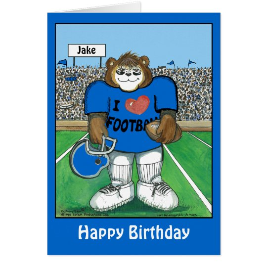 Personalised Birthday Card w/ Football Team