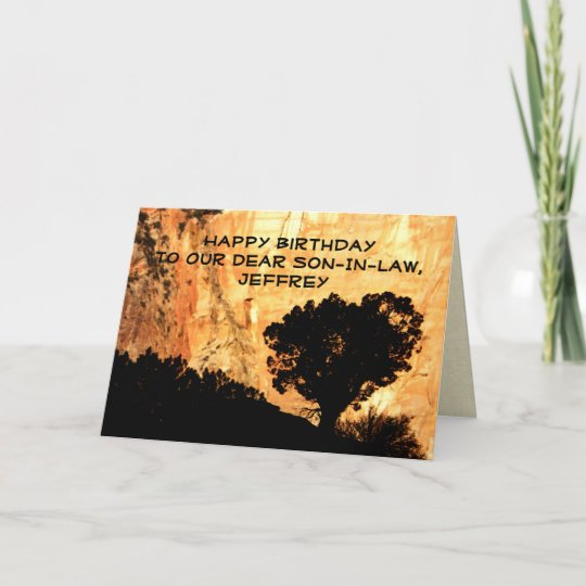 Personalised Birthday Greeting Card Son In Law Card