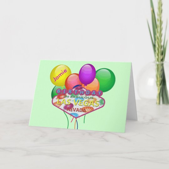 Personalised Birthday In Las Vegas Card