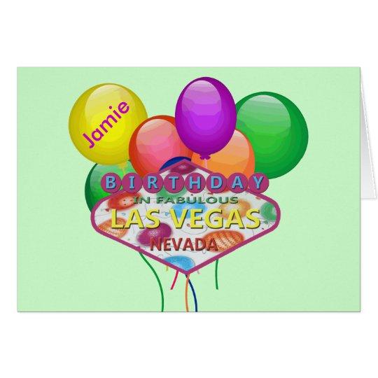 Personalised Birthday In Las Vegas Card