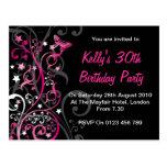Personalised Birthday Invitations Postcard