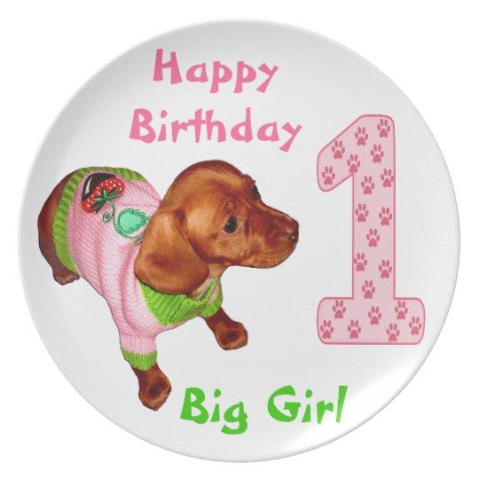 Personalised Birthday Plates Babies 1st Birthday