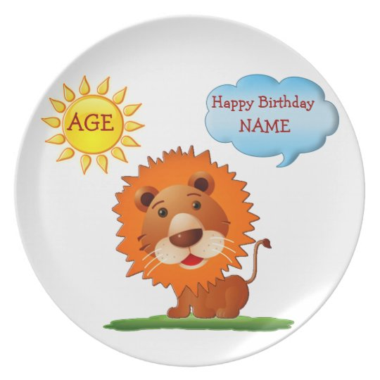 Personalised Birthday Plates for Kids Name & AGE
