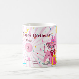 Personalised Birthday Puppy Cartoon Coffee Mug