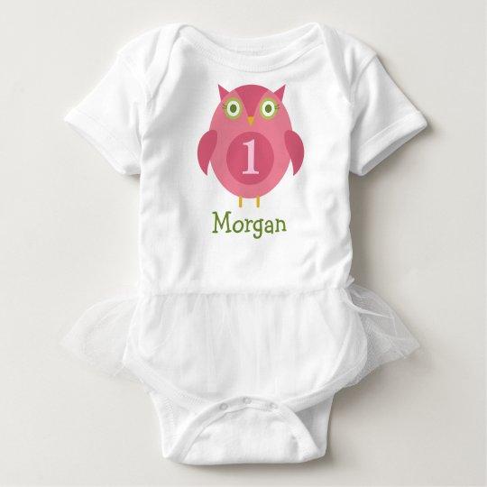Personalised Birthday T-Shirt | Pink Owl