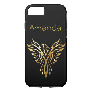 Personalised black and gold Phoenix iPhone 8/7 Case