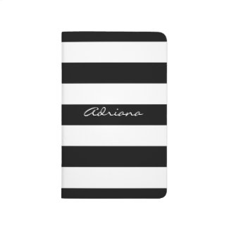 Personalised Black and White Pocket Journal