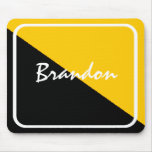 Personalised Black & Gold Mousepad Low-Priced