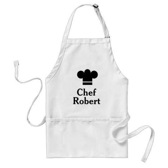 Personalised Black Hat Chef Apron