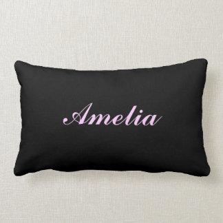 Personalised Black Pillow