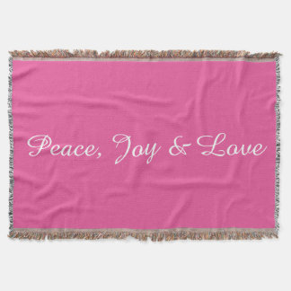 Personalised Blanket pink and white with your text