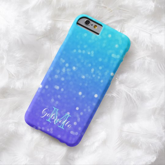 Personalised Blue And Purple Glimmer Case
