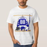 Personalised Blue and White Ice Hockey Jersey Tees