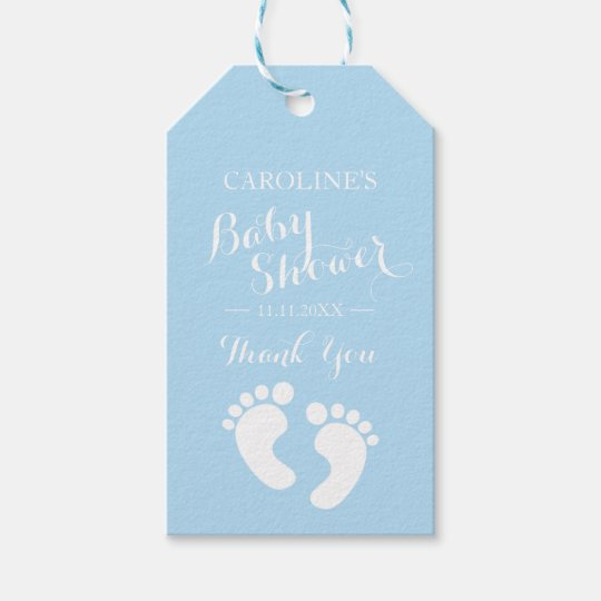 Personalised blue baby feet boy baby shower gift tags zazzle personalised blue baby feet boy baby shower gift tags negle Gallery