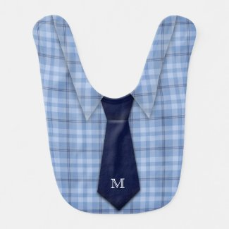Personalised Blue Boy's Shirt Tie Bib