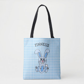 Personalized Blue Easter Bunny Blue Boy's Bag