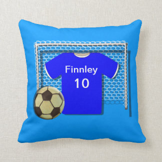 Personalised Blue Football Soccer Themed  Pillow