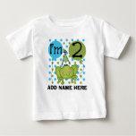 Personalised Blue Frog 2nd Birthday Tshirt