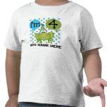 Personalised Blue Frog 4th Birthday Tshirt