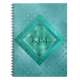 Personalised Blue Mint Marine Photo Notebook