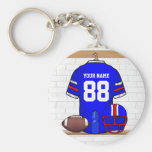 Personalised Blue WR Football Grid Iron Jersey