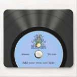 Personalised Bluegrass Vinyl Record Mouse Pad