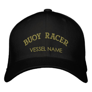 Personalised Boat Name Buoy Racer Hat Embroidered Baseball Cap