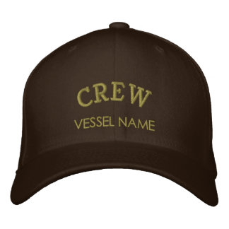 Personalised Boat Name Crew Hat Embroidered Cap