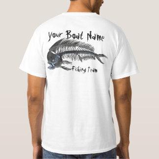 Personalised Boat Name Mahi Fishbones T-Shirt