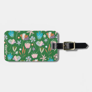 Personalised Boho Floral Luggage Tag