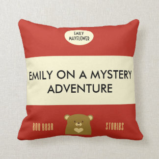 Personalised Boo Bear Stories - Cranberry Red Cushion