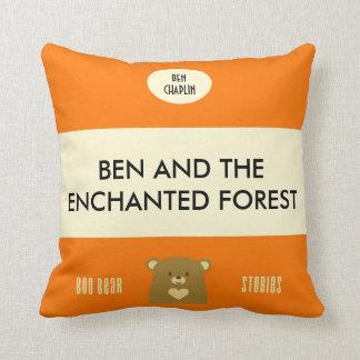 Personalised Boo Bear Stories - Pumpkin Orange Cushion