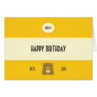 Personalised Boo Bear - Sunflower Yellow
