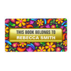 Personalised Book Labels | Floral Bookplate Label