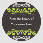 Personalised Bookplates - Colourful Flourishes Sticker