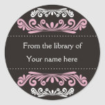 Personalised Bookplates - Colourful Flourishes Round Sticker