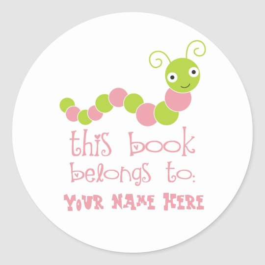 Personalised Bookworm Bookplate Stickers