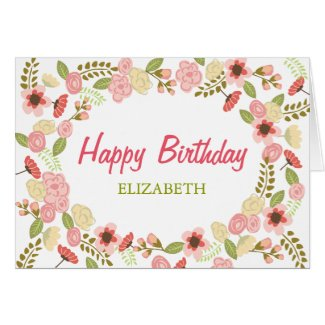 Personalised Botanical Birthday Card