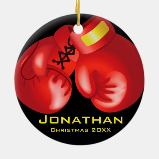 Personalised Boxing Gloves Ornament