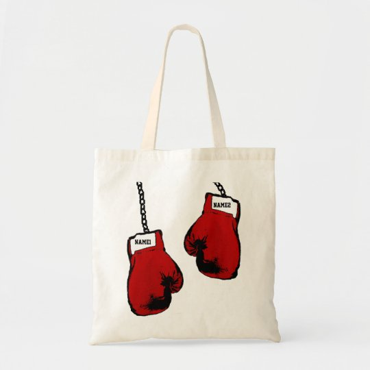 Personalised Boxing Gloves Tote Bag