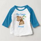Personalised Boy Monkeys Big Cousin Baby T-Shirt