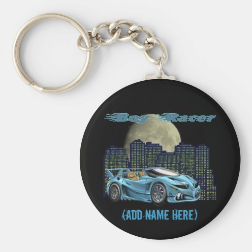 Personalised Boy Racer - Keychain
