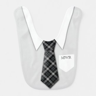 Personalised Boy's Suit Tie Bib