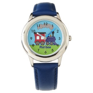 Personalised Boys Train Choo Choo Watch by CBendel