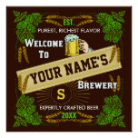 Personalised Brewery / Beer Welcome Sign