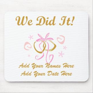 Personalised Bride and Groom We Did It Mousepad