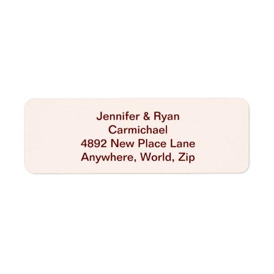 Personalised Bride & Groom Return Address Labels