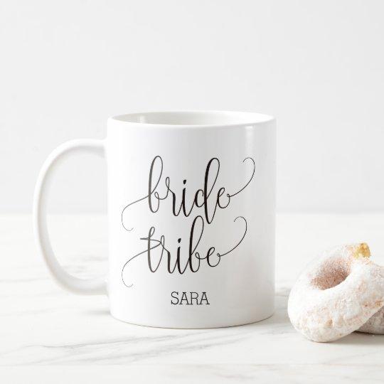 Personalised Bride Tribe Calligraphy Bridesmaid Coffee Mug