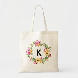 Personalised bridesmaid bag monogramed for wedding