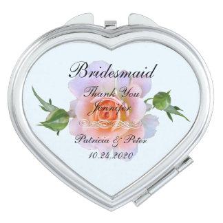 Personalised Bridesmaid Floral Makeup Mirrors